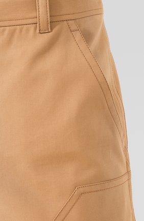 Мужские хлопковые брюки BURBERRY коричневого цвета, арт. 4563534 | Фото 5