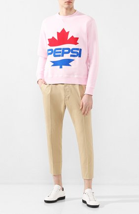 Мужской хлопковый свитшот DSQUARED2 розового цвета, арт. S78GU0039/S25030   Фото 2