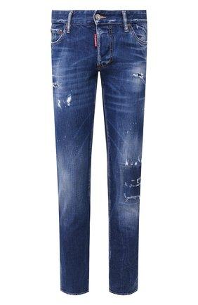 Мужские джинсы DSQUARED2 синего цвета, арт. S71LB0724/S30663 | Фото 1