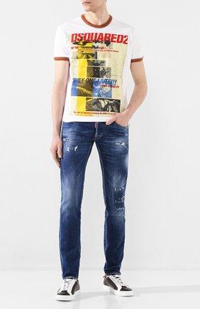 Мужские джинсы DSQUARED2 синего цвета, арт. S71LB0724/S30663 | Фото 2