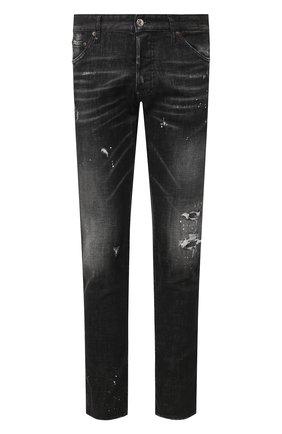 Мужские джинсы DSQUARED2 черного цвета, арт. S71LB0713/S30357   Фото 1