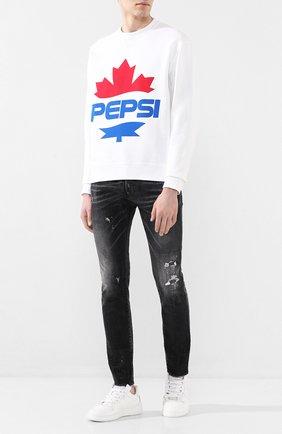 Мужские джинсы DSQUARED2 черного цвета, арт. S71LB0713/S30357   Фото 2