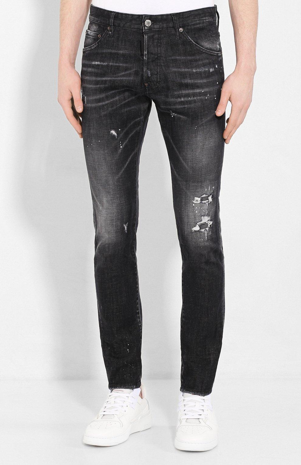 Мужские джинсы DSQUARED2 черного цвета, арт. S71LB0713/S30357   Фото 3