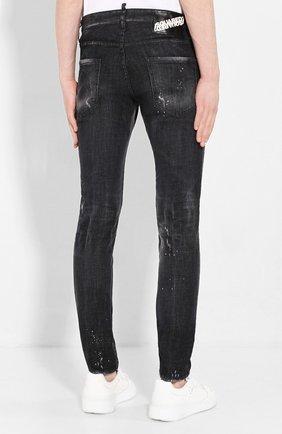 Мужские джинсы DSQUARED2 черного цвета, арт. S71LB0713/S30357   Фото 4