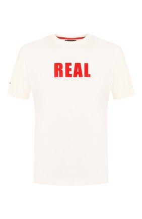 Мужская хлопковая футболка KITON белого цвета, арт. UK1166 | Фото 1