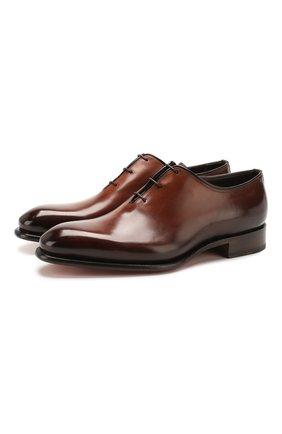 Мужские кожаные оксфорды SANTONI коричневого цвета, арт. MCCR16229MC1HDPNT49 | Фото 1