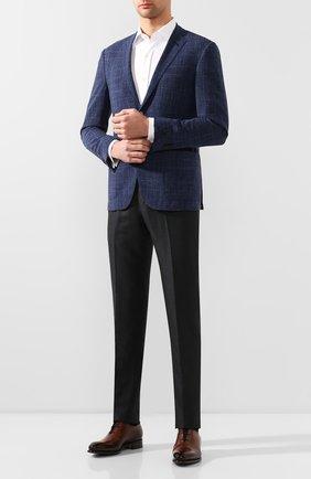 Мужские кожаные оксфорды SANTONI коричневого цвета, арт. MCCR16229MC1HDPNT49 | Фото 2