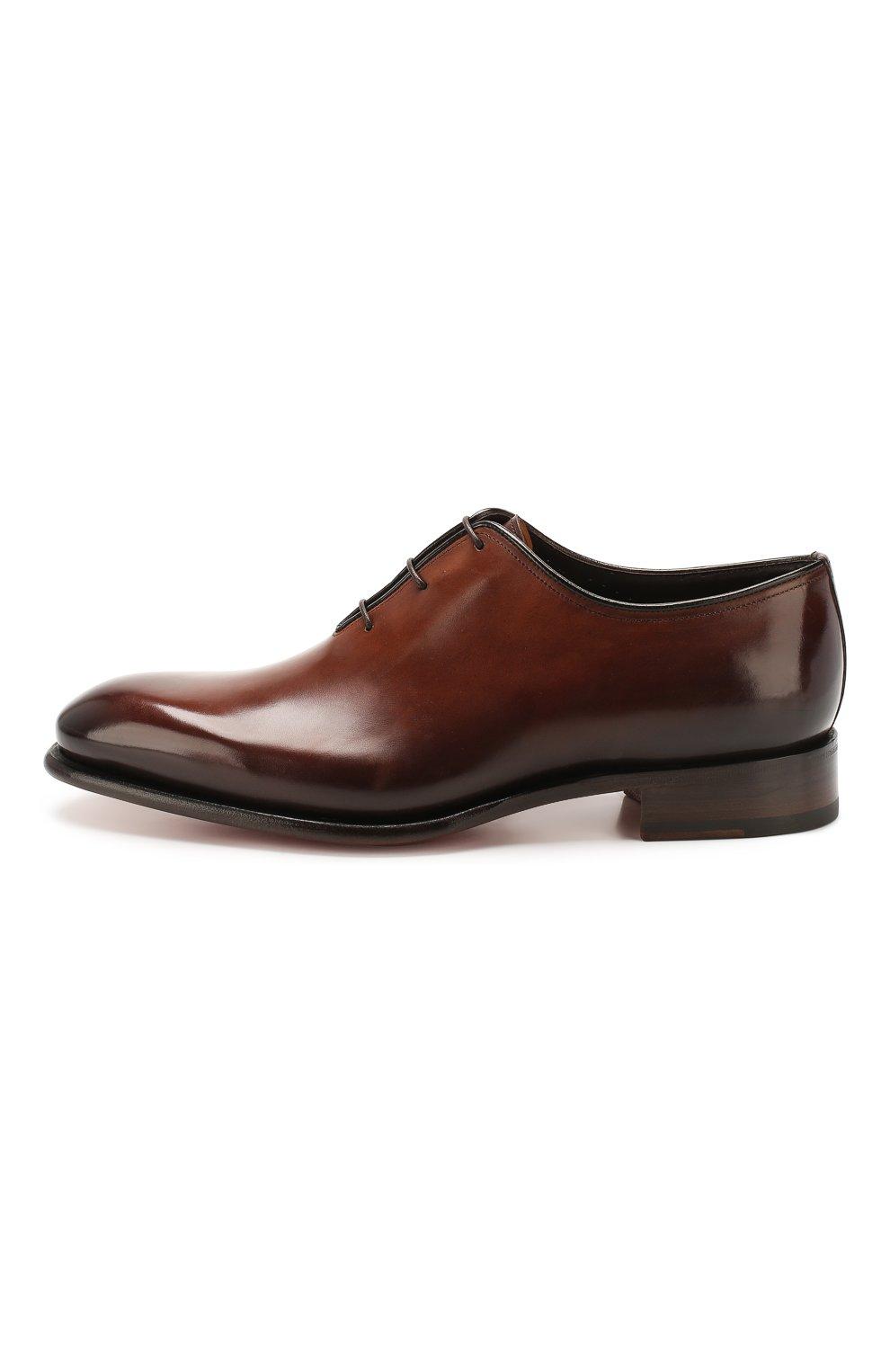 Мужские кожаные оксфорды SANTONI коричневого цвета, арт. MCCR16229MC1HDPNT49 | Фото 3
