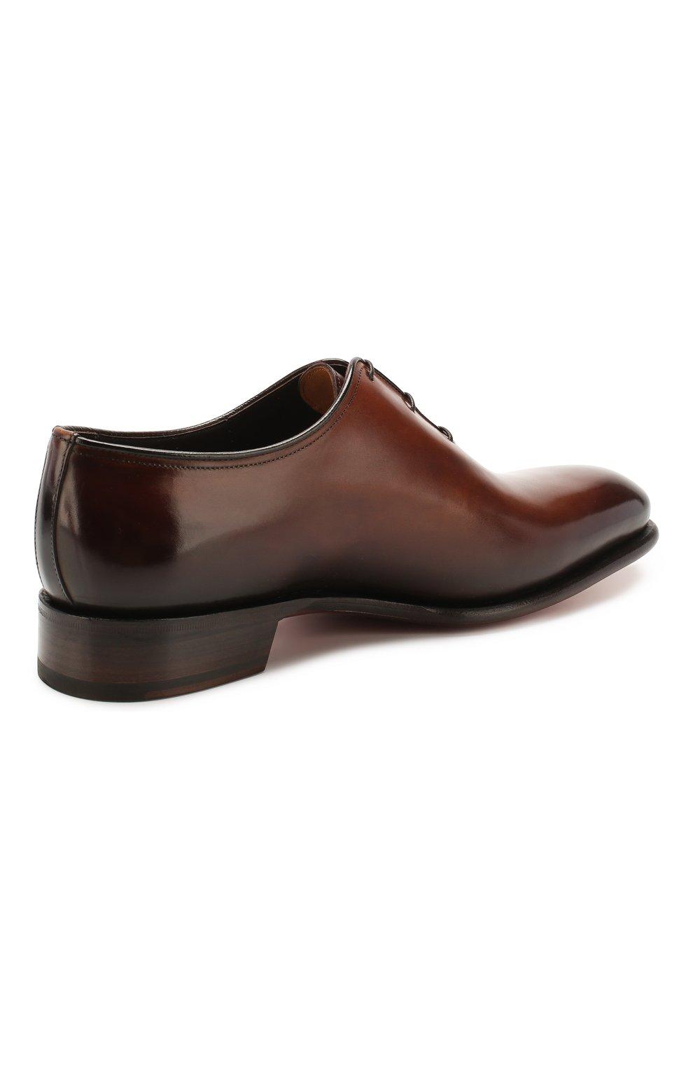 Мужские кожаные оксфорды SANTONI коричневого цвета, арт. MCCR16229MC1HDPNT49 | Фото 4
