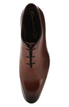 Мужские кожаные оксфорды SANTONI коричневого цвета, арт. MCCR16229MC1HDPNT49 | Фото 5
