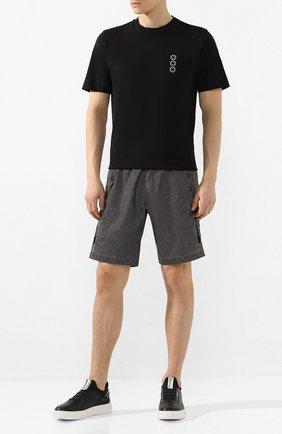 Мужские кожаные кеды W.GIBBS черного цвета, арт. 2259003/2093 | Фото 2