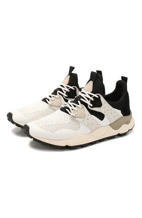 Мужские комбинированные кроссовки FLOWER MOUNTAIN черно-белого цвета, арт. 0012014760.02 | Фото 1