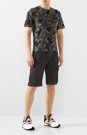 Мужские комбинированные кроссовки FLOWER MOUNTAIN черно-белого цвета, арт. 0012014760.02 | Фото 2
