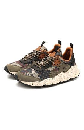 Мужские комбинированные кроссовки FLOWER MOUNTAIN хаки цвета, арт. 0012014764.02   Фото 1