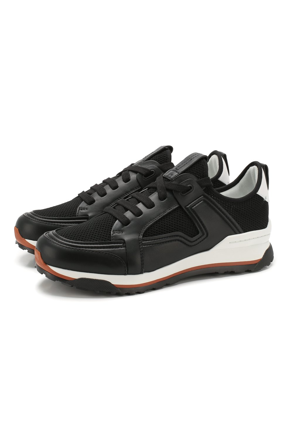 Мужские комбинированные кроссовки ERMENEGILDO ZEGNA черного цвета, арт. A4402X-LHNAF   Фото 1