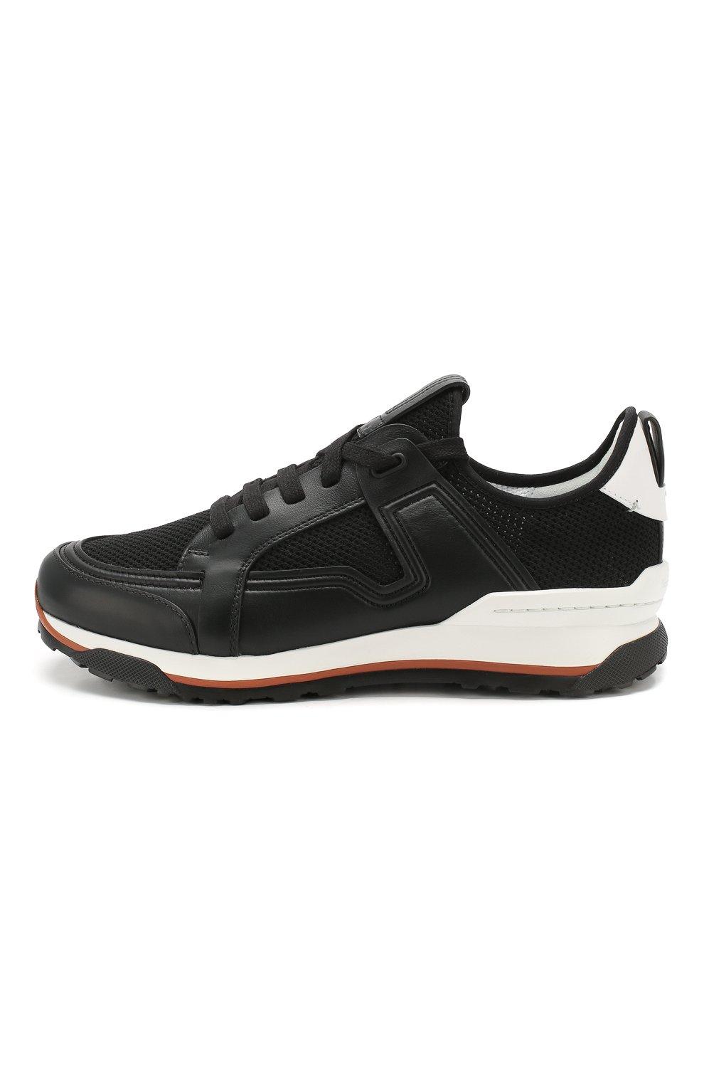 Мужские комбинированные кроссовки ERMENEGILDO ZEGNA черного цвета, арт. A4402X-LHNAF   Фото 3