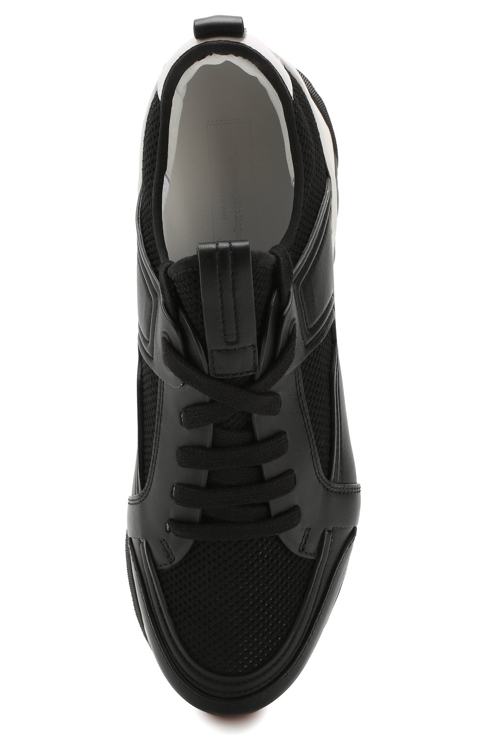 Мужские комбинированные кроссовки ERMENEGILDO ZEGNA черного цвета, арт. A4402X-LHNAF   Фото 5