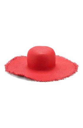 Женская соломенная шляпа brigitte LORO PIANA красного цвета, арт. FAI6010 | Фото 1