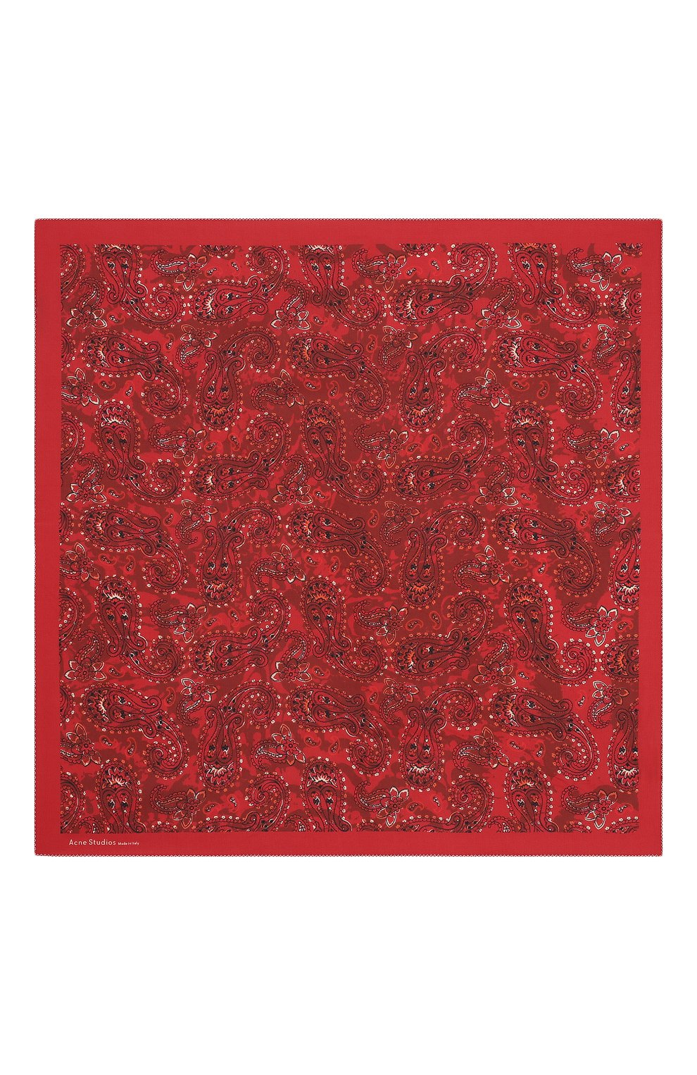 Женский платок из смеси хлопка и шелка ACNE STUDIOS красного цвета, арт. CA0042/W | Фото 3