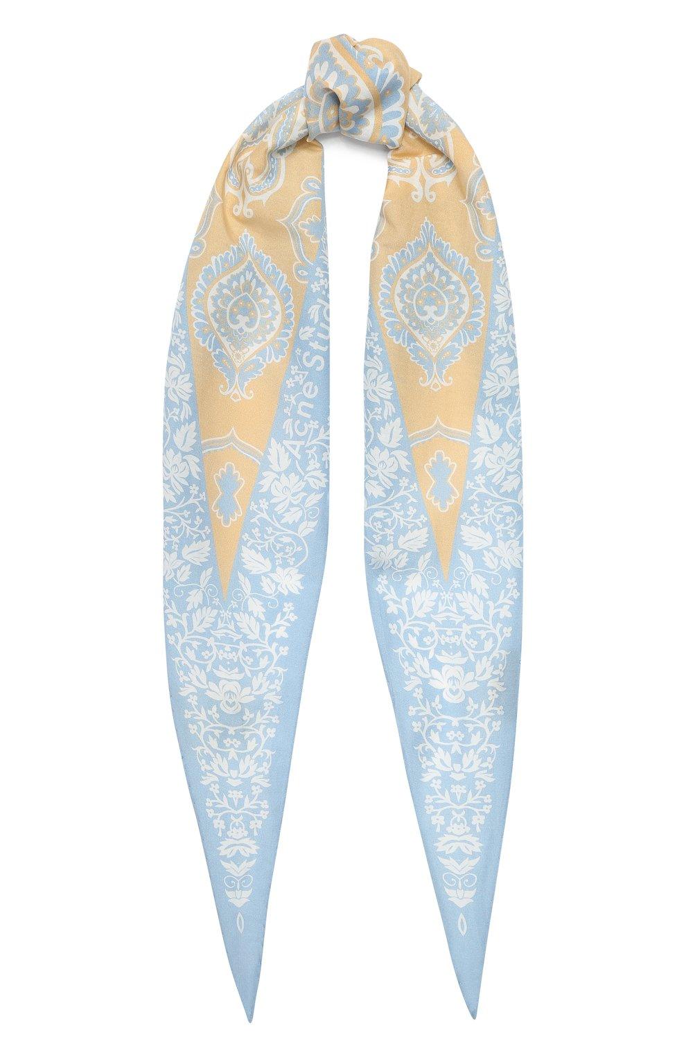 Женский платок из смеси хлопка и шелка ACNE STUDIOS бежевого цвета, арт. CA0045/W | Фото 1