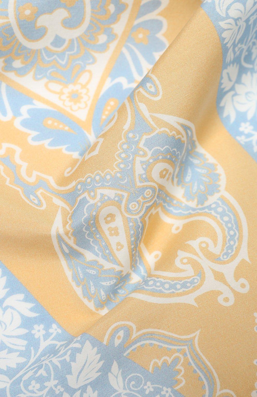 Женский платок из смеси хлопка и шелка ACNE STUDIOS бежевого цвета, арт. CA0045/W | Фото 2
