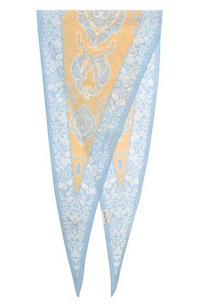 Женский платок из смеси хлопка и шелка ACNE STUDIOS бежевого цвета, арт. CA0045/W | Фото 4