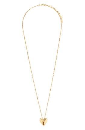 Женское колье SAINT LAURENT золотого цвета, арт. 621183/Y1500 | Фото 1