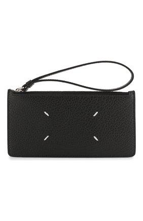 Женский кожаный футляр для кредитных карт MAISON MARGIELA черного цвета, арт. S56UI0146/P0399 | Фото 1