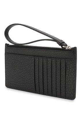 Женский кожаный футляр для кредитных карт MAISON MARGIELA черного цвета, арт. S56UI0146/P0399 | Фото 2