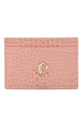 Женский кожаный футляр для кредитных карт JIMMY CHOO розового цвета, арт. UMIKA/CCL | Фото 1