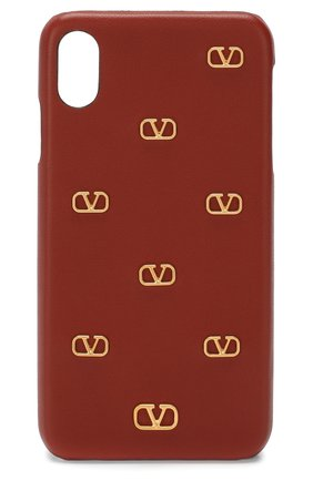 Мужской кожаный чехол valentino garavani для iphone xs max VALENTINO коричневого цвета, арт. TW2P0S88/DRT | Фото 1