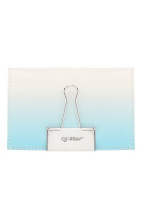 Женский футляр для кредитных карт OFF-WHITE голубого цвета, арт. 0WNC009R20G990683100 | Фото 1