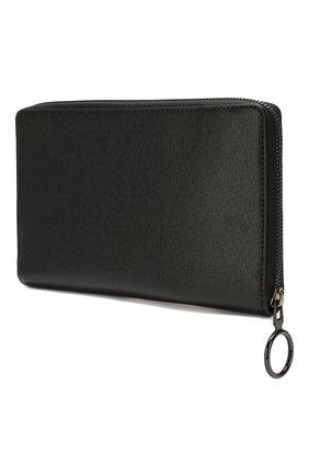 Женские кожаный кошелек OFF-WHITE черного цвета, арт. 0WNC012R204230731001 | Фото 2
