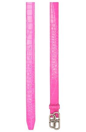 Женский кожаный ремень BALENCIAGA фуксия цвета, арт. 581690/1LR0B | Фото 2