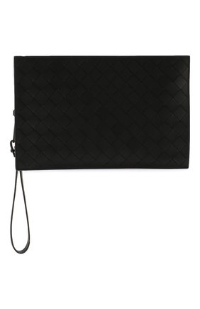 Мужская кожаный футляр для документов BOTTEGA VENETA черного цвета, арт. 607474/VCPQ3 | Фото 1
