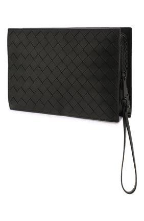 Мужская кожаный футляр для документов BOTTEGA VENETA черного цвета, арт. 607474/VCPQ3 | Фото 2