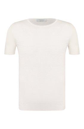 Мужской льняной джемпер GRAN SASSO белого цвета, арт. 57177/24801 | Фото 1