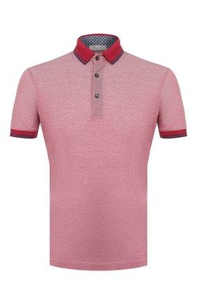 Мужское хлопковое поло GRAN SASSO розового цвета, арт. 60144/72720 | Фото 1