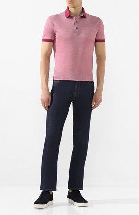 Мужское хлопковое поло GRAN SASSO розового цвета, арт. 60144/72720 | Фото 2