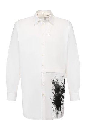 Мужская хлопковая рубашка ISABEL BENENATO белого цвета, арт. UW31PS20 | Фото 1