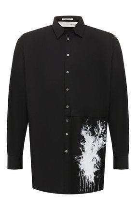 Мужская хлопковая рубашка ISABEL BENENATO черного цвета, арт. UW31PS20 | Фото 1