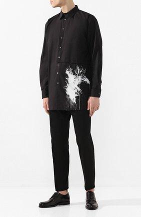 Мужская хлопковая рубашка ISABEL BENENATO черного цвета, арт. UW31PS20 | Фото 2