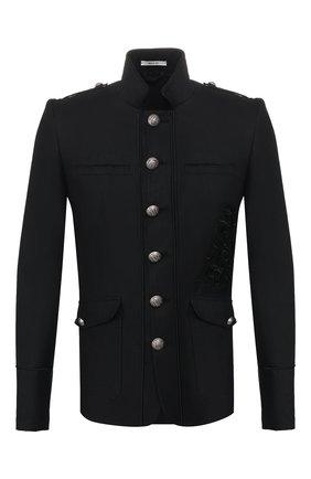 Мужской пиджак из смеси хлопка и льна ISABEL BENENATO черного цвета, арт. UW21RS20 | Фото 1