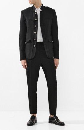Мужской пиджак из смеси хлопка и льна ISABEL BENENATO черного цвета, арт. UW21RS20 | Фото 2