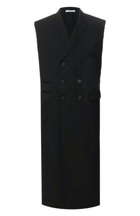 Мужской шерстяной жилет ISABEL BENENATO черного цвета, арт. UW02RS20 | Фото 1