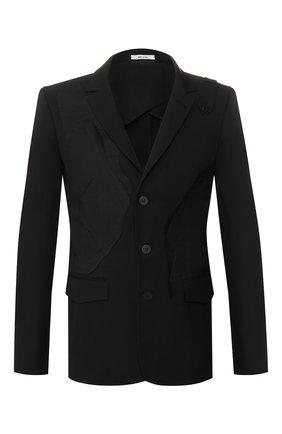 Мужской шерстяной пиджак ISABEL BENENATO черного цвета, арт. UW01RS20 | Фото 1