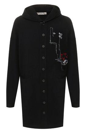Мужская кардиган ISABEL BENENATO черного цвета, арт. UK35RS20 | Фото 1
