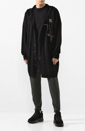 Мужская кардиган ISABEL BENENATO черного цвета, арт. UK35RS20 | Фото 2