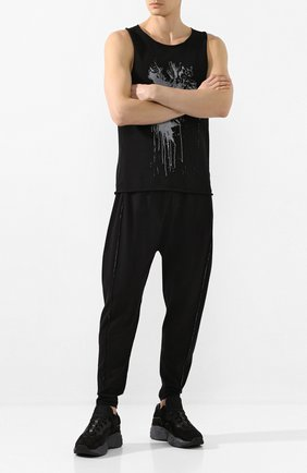 Мужской брюки ISABEL BENENATO черного цвета, арт. UK33S20 | Фото 2