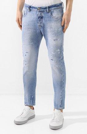 Мужские джинсы PREMIUM MOOD DENIM SUPERIOR голубого цвета, арт. S20 0352740217/BARRET | Фото 3